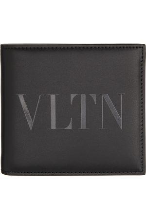 VALENTINO GARAVANI Men Wallets - Black Monotone 'VLTN' Wallet