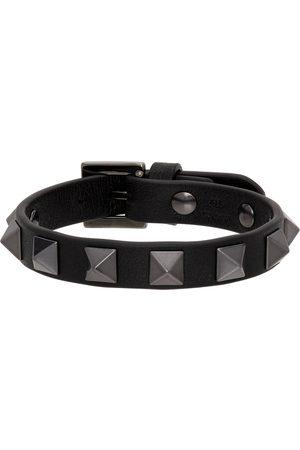 VALENTINO GARAVANI Men Bracelets - Black Rockstud Bracelet