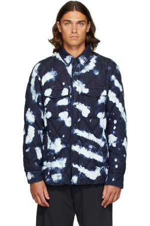 Moncler Men Denim Jackets - Blue Down Briere Jacket