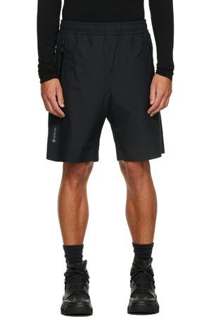 Moncler Men Shorts - Black Taffeta Shorts