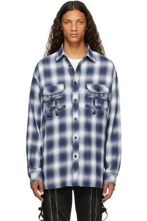 Takahiromiyashita The Soloist Men Casual - & White Check Side Zip Flannel Shirt