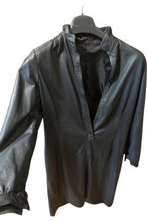 Mano Leather maxi dress