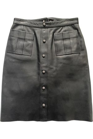 AJE Leather mid-length skirt