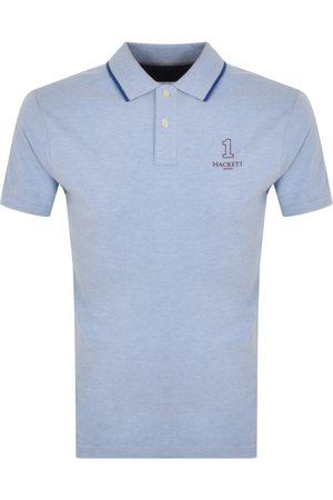 Hackett Men Polo Shirts - Number Logo Polo T Shirt