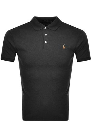Ralph Lauren Men Polo Shirts - Slim Fit Polo T Shirt Grey