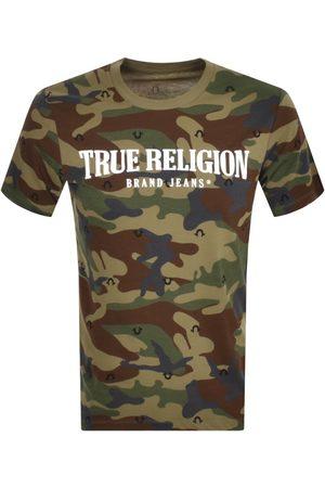True Religion Men T-shirts - Camo Logo T Shirt