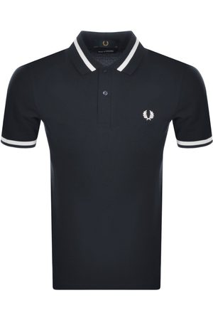 Fred Perry Tipped Polo T Shirt Navy