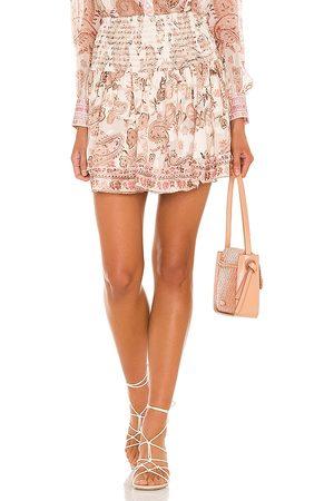 HEMANT AND NANDITA Luana Mini Skirt in Blush.