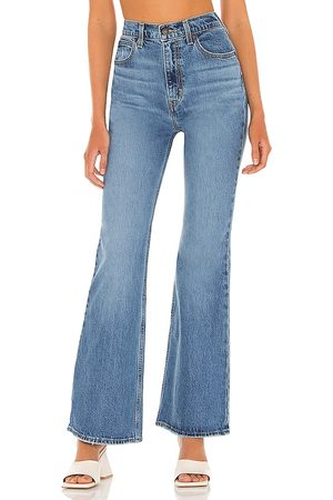 Levi's 70s High Rise Flare Jean in Blue.