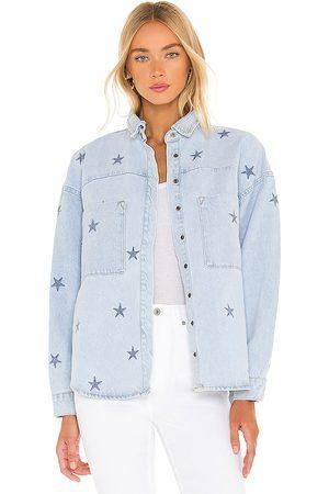 ONE TEASPOON Starred Daria Denim Shirt in .
