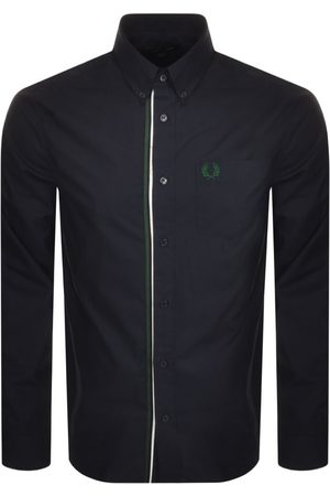 Fred Perry Long Sleeved Taped Placket Shirt Navy
