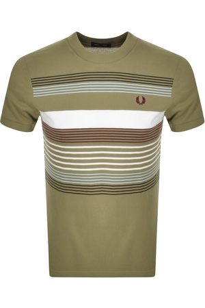 Fred Perry Striped Pique T Shirt