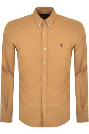 Ralph Lauren Men Long sleeves - Oxford Long Sleeved Shirt Brown