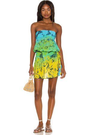 TIARE HAWAII Aina Mini Dress in Green.