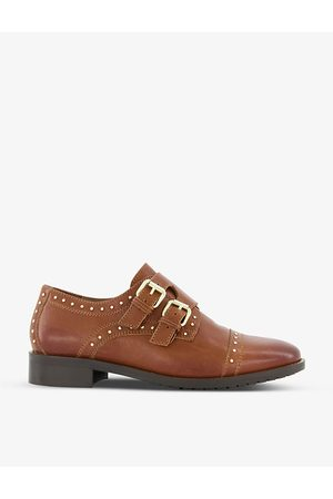 Dune Women Formal Shoes - Flickers studded leather double monk strap shoes