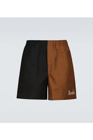 BODE Bacchus printed cotton and nylon shorts