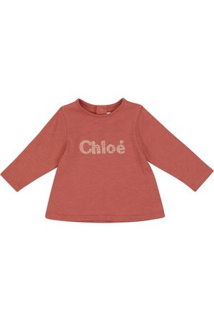 Chloé Baby logo cotton-blend T-shirt
