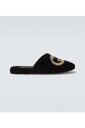 Gucci Interlocking G shearling slippers