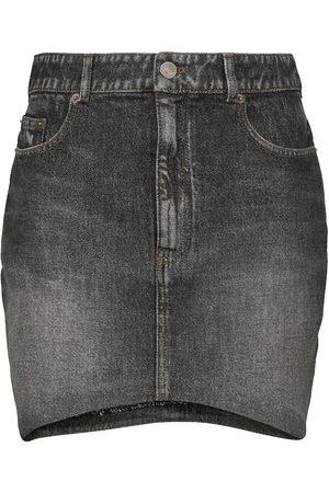Balenciaga Women Mini Skirts - Denim miniskirt