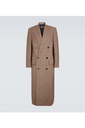 Balenciaga Checked wool overcoat