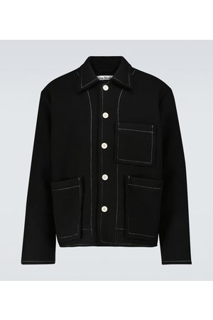 Acne Studios Wool-blend pocket overshirt