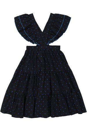 PAADE Polka-dot cotton-blend skirt