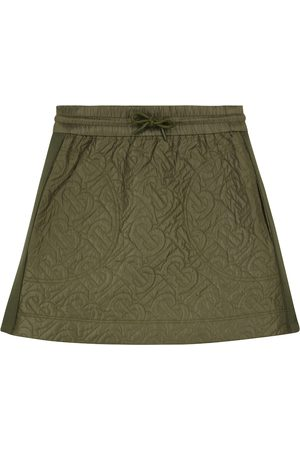 Burberry Logo-quilted high-rise skirt