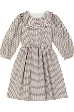 PAADE Checked cotton and wool dress
