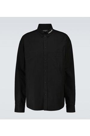 Balenciaga Large-fit cotton poplin shirt