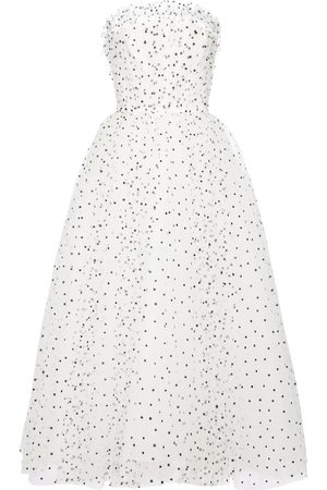 MONIQUE LHUILLIER Embellished strapless tulle gown