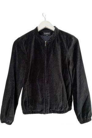 Caroll Velvet biker jacket