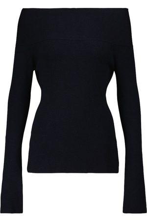 Victoria Beckham Off-shoulder wool-blend sweater