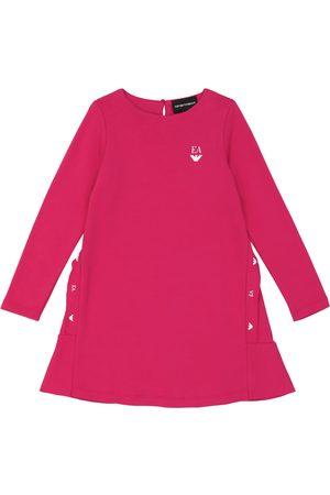 Emporio Armani Logo-printed flounced cotton dress