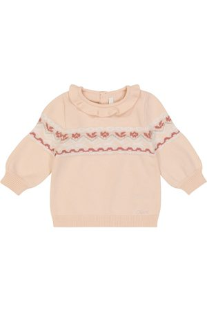 Chloé Baby cotton and wool intarsia sweater