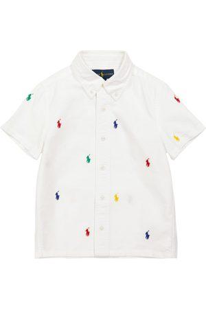 Ralph Lauren Logo embroidered cotton shirt