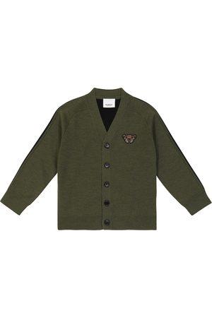 Burberry Logo wool-blend cardigan