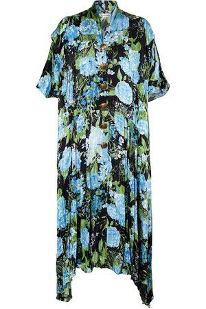 Balenciaga Floral oversized midi dress