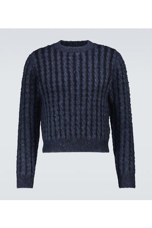 Acne Studios Cable-knit wool-blend sweater