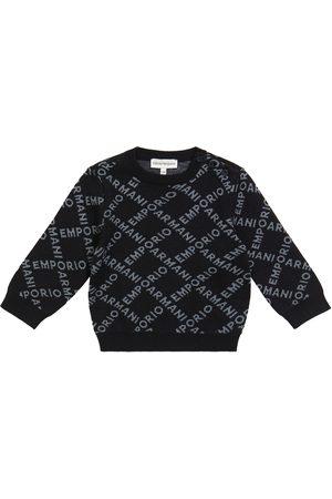 Emporio Armani Baby logo jacquard sweater