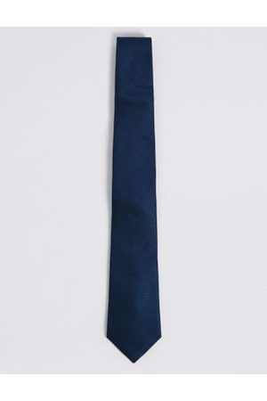 M&S Collection Textured Pure Silk Tie