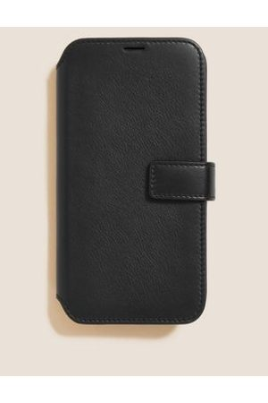 M&S Collection Leather Flip iPhone 12 Case