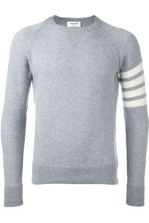 Thom Browne Men Sweatshirts - Striped sleeve jumper - Grey