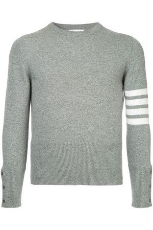 Thom Browne Men Sweatshirts - 4-Bar Cashmere Pullover - 055 LIGHT GREY