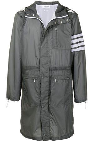 Thom Browne Men Parkas - 4-Bar long hooded parka coat - 045