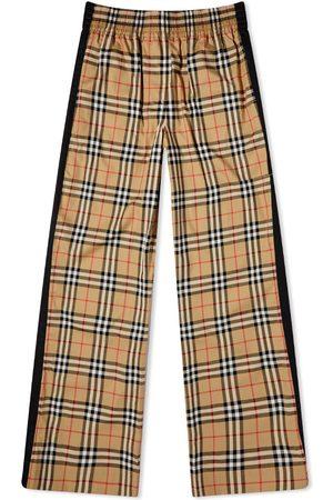 Fjällräven Men Wide Leg Pants - Burberry Louane Checked Trouser