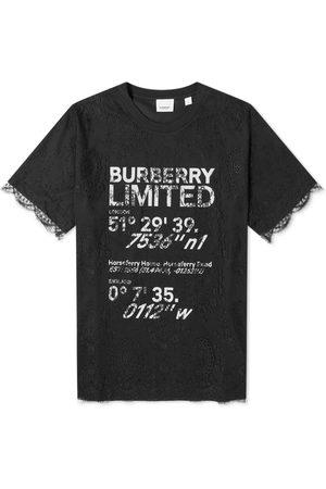 Burberry Men Tops - Lace Overlay Logo Top