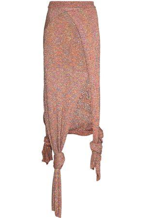 Loewe Women Asymmetrical Skirts - Sequinned asymmetric knitted skirt