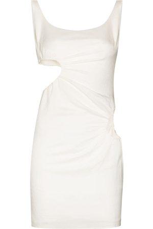 DANIELLE GUIZIO Women Party Dresses - Cut-out ruched mini dress