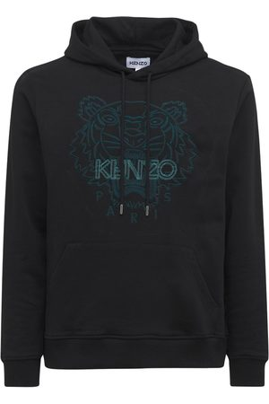 Kenzo Men Hoodies - Icon Embroidered Cotton Hoodie