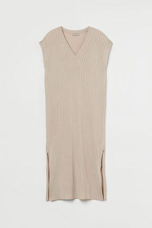 H&M Women Knitted Dresses - Rib-knit Dress